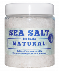 Natural sea salt for baths