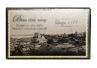 Blue clay soap